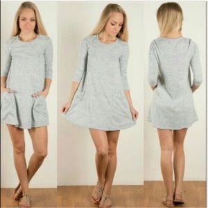 Heather Gray Mini Dress